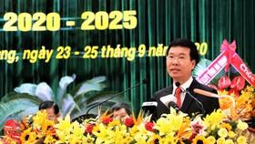 Trưởng Ban Tuyên giáo Trung ương Võ Văn Thưởng chỉ đạo Đại hội Đảng bộ tỉnh An Giang