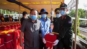 Truy điệu, an táng 262 hài cốt liệt sĩ Việt Nam hy sinh trên chiến trường Campuchia