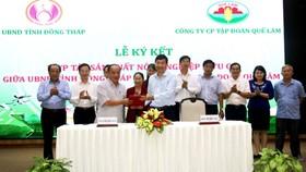 UBND tỉnh Đồng Tháp và Công ty CP Tập đoàn Quế Lâm ký hợp tác phát triển nông nghiệp hữu cơ