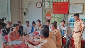 Xử lý nhóm thanh niên chặn đường, tổ chức đua xe trái phép tại Tiền Giang