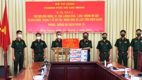 Bộ Tư lệnh TPHCM hỗ trợ tỉnh Kiên Giang chống dịch Covid-19