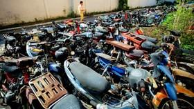 Nhiều xe máy vi phạm luật giao thông quá thời gian giải quyết nhưng không có người đến nhận