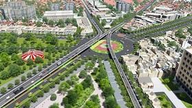 Mô hình cầu vượt nút giao thông Nguyễn Kiệm - Nguyễn Thái Sơn