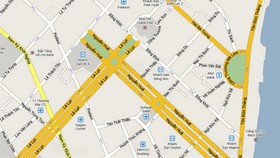 Phân luồng một số tuyến đường khu vực trung tâm TPHCM