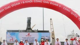 Lễ cắt băng khánh thành giai đoạn 1 và khởi công giai đoạn 2 Cảng quốc tế Long An. Ảnh: Thanh Bình/TTXVN