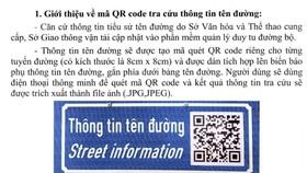 TPHCM tra cứu tiểu sử tên đường bằng điện thoại