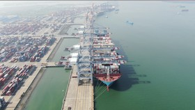 Cảng Quốc tế Cái Mép đón tàu lớn nhất từ trước đến nay