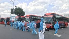 Cần Thơ đón hơn 400 người trở về từ TPHCM