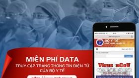 Miễn phí cước data cho thuê bao di động khi truy cập vào trang thông tin điện tử Bộ Y tế