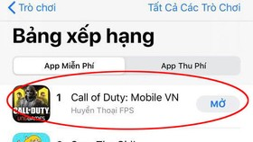 Call of Duty: Mobile VN đứng Top 1 Download