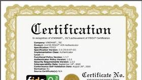 Hệ điều hành VOS trên điện thoại Vsmart đã đạt chứng chỉ FIDO2