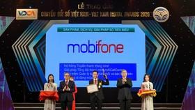 """MobiFone được trao giải """"Sản phẩm, dịch vụ, giải pháp công nghệ số tiêu biểu"""""""