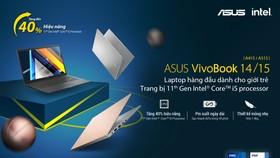 VivoBook 14/15 được ASUS trang bị vi xử lý Intel Core thế hệ 11 mới nhất