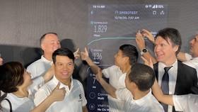 Tốc độ thử nghiệm 5G VinaPhone tại TPHCM lên đến 1,8 Gbps