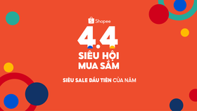 Shopee với chương trình 4.4 Siêu Hội Mua Sắm