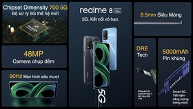 Hãng realme đã đưa ra thị trường chiếc realme 8 5G với nhiều tính năng đáng giá