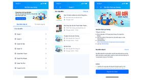 Giao diện Mobile Web của Sài Gòn bao dung
