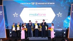 MobiFone được vinh danh trong hạng mục Top 10 Doanh nghiệp CNTT Việt Nam 2021