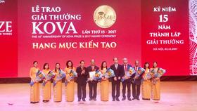 17 tập thể và cá nhân được trao tặng giải thưởng Kova 2017