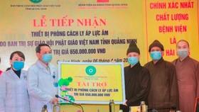 Phật giáo tỉnh Quảng Ninh ủng hộ 1,65 tỷ đồng phòng chống dịch Covid–19