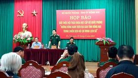 Quang cảnh buổi họp báo tại Hà Nội, sáng 23-4-2021