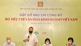Buổi công bố  Bộ tiêu chí văn hóa kinh doanh Việt Nam