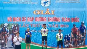 Nguyễn Thị Thật lần thứ ba bước lên bục vinh quang.