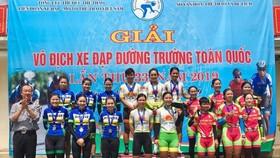 Xe đạp nữ An Giang tỏ ra quá mạnh ở giải VĐQG.