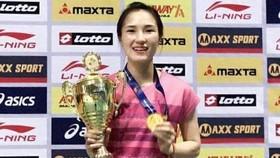 Một lần nữa Vũ Thị Trang bước lên bục vinh quang.