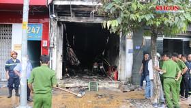 Cửa hàng bán sơn cháy, 3 người thương vong