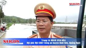 Quảng Ngãi: Quốc lộ 1 ách tắc giao thông do lũ