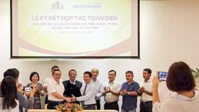 Lễ ký kết hợp tác toàn diện giữa Hiệp hội Các doanh nghiệp Khu Công nghiệp TPHCM và Báo SGGP Đầu Tư Tài Chính