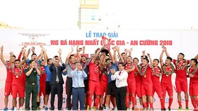 Đội Viettel lần đầu ghi tên ở V-League. Ảnh: MINH HOÀNG