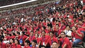 Hàng trăm fan MU đến từ Việt Nam đã có dịp sang Singapore xem đội bóng này thi đấu tại ICC Cup vừa qua. Ảnh: Anh Trần