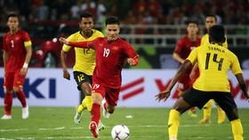 ĐT Việt Nam trong trận thắng Malaysia ở AFF Cup 2018 vừa qua. Ảnh: Minh Hoàng