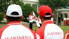 Lễ xuất quân của Đoàn thể thao Indonesia