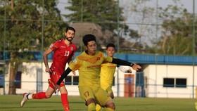 U23 Việt Nam và U23 Bahrain trong trận đấuí chiều 3-1. Ảnh: Đoàn Nhật