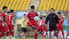 Đợt tập trung gần đây của đội U23 Việt Nam tại Bình Dương. Ảnh: Quang Liêm