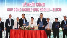 Lễ khởi công một KCN tại Long An.