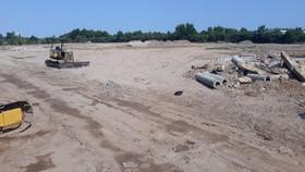 Một dự án nhà ở của Công ty Lê Thành (Bình Tân) phải ngưng thi công do ảnh hưởng dịch Covid-19.