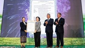 Vietnam Dairy Products JSC opens Lao-Jagro Development Xiengkhouang Co., Ltd. In Laos. (Photo: SGGP)