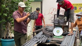 The building material market in Ho Chi Minh City has started to flourish again. (Photo: SGGP)