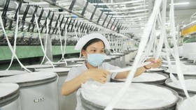 Preliminary processing of yarn at Phong Phu Corporation. (Photo SGGP)