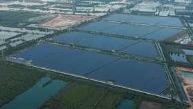 A solar power project in Duc Hoa District in Long An Province. (Photo: SGGP)