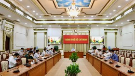 The HCMC end at the regular online meeting of January 2021 of the Government on the morning of February 2. (Photo: HMC)