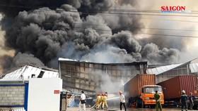 Cháy lớn tại Khu Công nghiệp Sóng Thần 2, Bình Dương