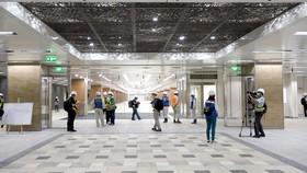 Cận cảnh bên trong tầng hầm B1, B2 Ga Nhà hát Thành phố tuyến metro Bến Thành - Suối Tiên