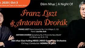 Giám đốc Âm nhạc Honna Tetsuji và nghệ sĩ piano Lưu Đức Anh sẽ tham gia đêm nhạc Franz Liszt và Antonin Dvorak