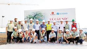 Công ty CP Tập đoàn Xây dựng Hòa Bình thi công vượt tiến độ dự án VinCity Ocean Park