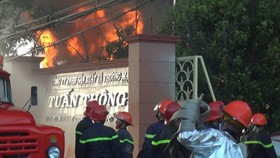 The fire occurred at Tuan Thong Production and Trading Co.,Ltd in Binh Chanh District.
